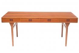 Nanna Ditzel & Jorgen Ditzel Teak Desk with Four Drawers