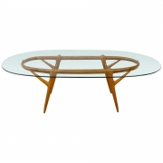 Ico Parisi Walnut & Brass Dining Table