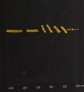 """Adja Yunkers Lithograph """"Shant D'un Oiseau Solitaire"""" 50/50, Close Up 1"""