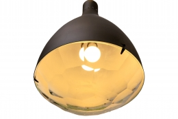 Italian Midcentury Style Chiseled Crystal Pendant Light, View of Bottom