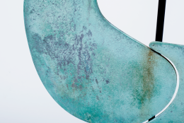 Harry Bertoia Patinated Bronze Gong