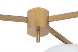 Mid-Century Modern Style Italian Three-Arm Flush Mount Ceiling Light