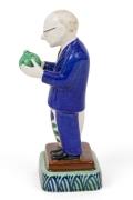 "Royal Copenhagen Aluminia Faience Figurine ""The Boss"" Marked ""Jus"","