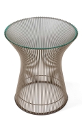 Warren Platner Glass and Chrome Side Table for Knoll