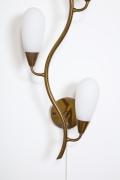 Glass & Brass Wall Light