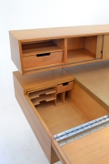 George Nelson Wood and Leather Office Desk for Herman Miller, View of Drawers1