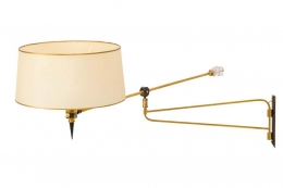 Articulating Brass Wall Light