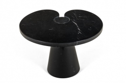 "Angelo Mangiarotti Black Marquina Marble ""Eros"" Side Table for Skipper"