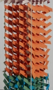 Wood & Paper Sculpture by Irving Harper