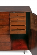 George Nelson Rosewood Thin Edge Chest of Drawers/Cabinet, Herman Miller