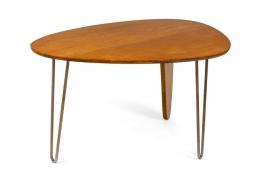 """Isamu Noguchi Birch & Steel """"Rudder"""" Dining Table for Herman Miller"""
