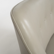 """Scandinavian Mid-Century Nanna Ditzel """"Allé Sofa"""" Reupholstered in Leather, Close Up View of Back"""