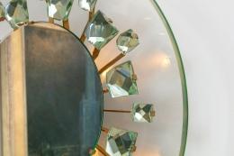 Ghiro Studios Backlit Chisel Cut Glass Mirror, Close Up 2