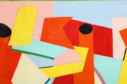 """Konstruktion over Den"" Painting by Gunnar Bay Nielsen"