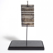 Important Harry Bertoia Silver, Ebony and Coral Pendant