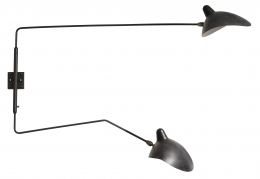 "Serge Mouille ""Murale"" Pivoting Two-Armed Wall Light"