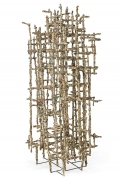 """Wire Sculpture """"Primitive Cathedral lll"""" by Matteo Naggi"""