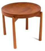 Jens Quistgaard Style Teak Tray Table, 3/4 Top View
