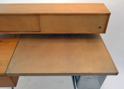 George Nelson Wood and Leather Office Desk for Herman Miller, View of Desk