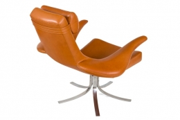 """Seagull"""" Chair and Ottoman by Gosta Berg and Stenerik Eriksson for Fritz Hansen"""