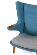 "Hans J. Wegner Signed ""Papa Bear"" Chair & Ottoman for AP Stolen, Close Up 1"
