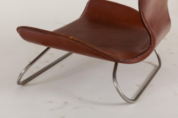 K-3 Low Leather Chair by Kirsten Jones & Adam Bottomley for KOI, England 2000s