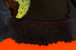 Bjorn Wiinblad Signed Orange Ceramic Table Lamps for Rosenthal