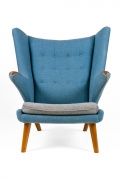 "Hans J. Wegner Signed ""Papa Bear"" Chair & Ottoman for AP Stolen, Front View"