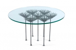 Brutalist Silver Gilt Table
