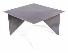 Artist Made Architectural Steel Table by Robert Koch, 3/4 Top View