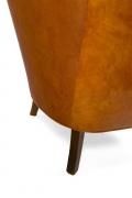 Steen Eiler Rasmussen Asymmetrical Leather Armchair for AJ Iverson, close Up 2