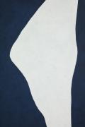 "Adja Yunkers 1900-1983 ""White on Smoke Blue"" Acrylic on Canvas, Close Up 3"