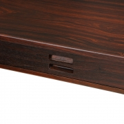 Nanna Ditzel & Jorgen Ditzel Rosewood Four Drawer Desk, Close Up of Closed Drawer