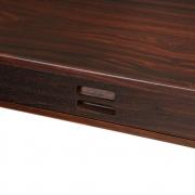 Nanna Ditzel & Jorgen Ditzel Rosewood Four Drawer Desk, Close Up of Closed Drawer