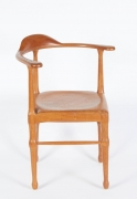 Vintage Model of Danish Mid-Century Corner Chair, 3/4 View