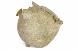 Stoneware Piggy Bank by Aase