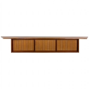 George Nakashima Free Edge Black Walnut Hanging Wall Cabinet