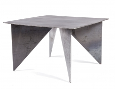 Artist Made Architectural Steel Table by Robert Koch