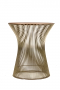 Warren Platner Walnut and Chrome Side Table for Knoll, Side View