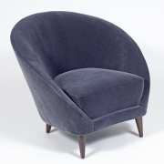 Pair of Gray Mohair Mid-Century Italian Style Lounge Chairs, 1