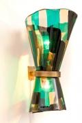 Venini Pezzato Murano Glass Wall Light