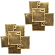 Sven Aage Holm Sorensen Torch Cut Brass Brutalist Sconces