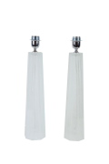 Italian Faceted Murano Glass Table Lamps