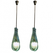 Pendant Lights in the Manner of Max Ingrand