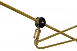 Articulating Brass Wall Light