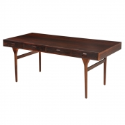 Nanna Ditzel & Jorgen Ditzel Rosewood Four Drawer Desk, 3/4 View