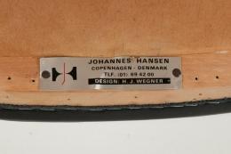 """Set of 8 Hans Wegner PP505 Teak & Black Leather """"Cow Horn"""" Chairs"""