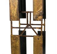 Harry Bertoia Brass Melt Coat Panel Sculpture Maquette for Bank in NYC