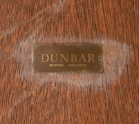 Dunbar Murano Glass Tile Top Coffee Table by Edward Wormley, Label