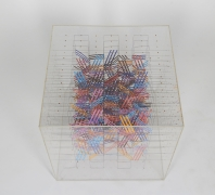 Irving Harper Paper and String Sculpture in Acrylic Box, 2